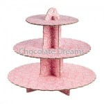 Cake Stand Roses Pink