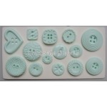 Alphabet Mould Buttons Paterned