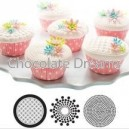 Cupcake/Cookie Texture Tops Geometric