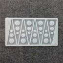 Siliconen Decoration Mold Triangle/Round Holes