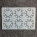 Siliconen Decoration Mold Round Heart