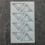 Siliconen Decoration Mold Triangle / Bow