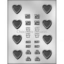 Chocoladevorm Heart/Messages