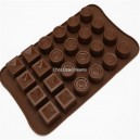 Siliconen Chocolate Mold Assorti