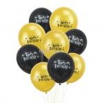 Harry Potter Ballonnen Zwart / Goud  10 Stuks
